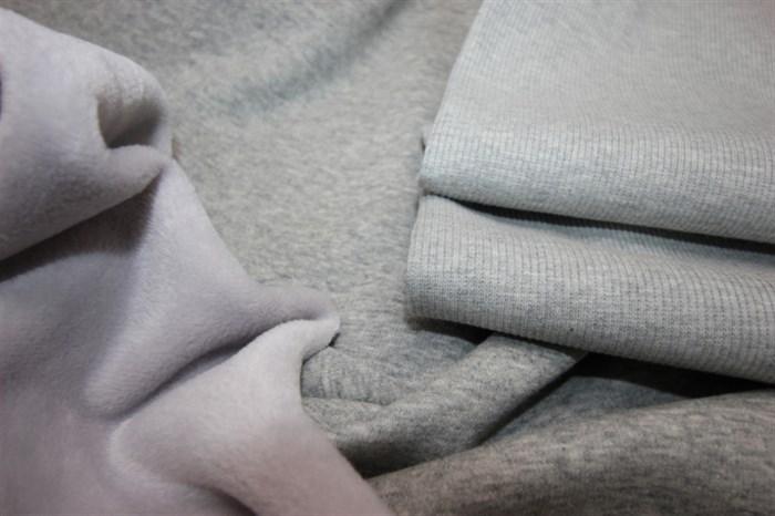 Кашкорсе к футеру мех Светло-серый меланж - фото 5615