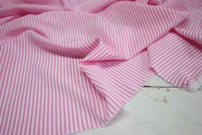 Ниагара Мелкая розово-белая полоска - фото 7174