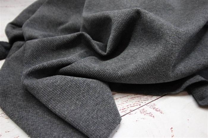 Кашкорсе к футеру мех Темно-серый меланж - фото 7761