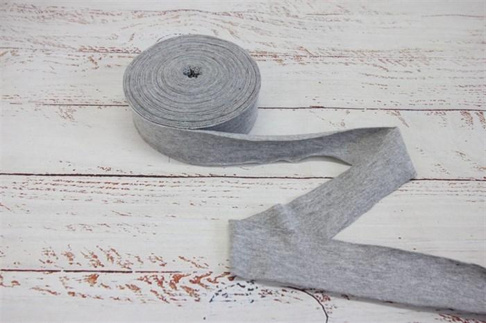 Бейка из рибаны Серый меланж 3,5 см / 9-10 метров - фото 7925