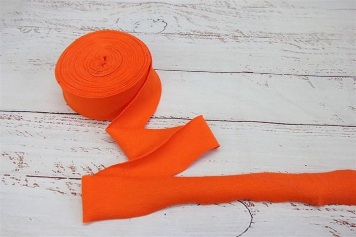 Бейка из рибаны Оранжевый 3,5 см / 9-10 метров - фото 7930
