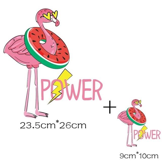 Термотрансфер Фламинго с кругом 2 шт - фото 8098