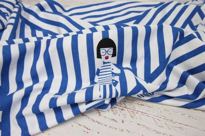 Кулирка Девочки на синей полоске - фото 8567