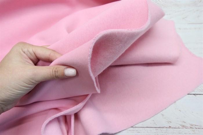 Футер 3-х нитка начес компакт пенье Светло-розовый - фото 8972