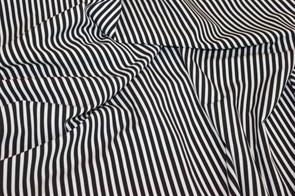Ниагара Полоска 5 мм черно-белая