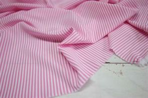 Ниагара Мелкая розово-белая полоска