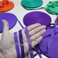 Киперная хлопковая лента 1 см цвет Слива - фото 7026